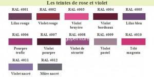 RAL Rose violet